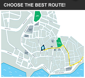 Choose the best route downtown